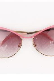Chic Pink Metal Cat Eye Sunglasses