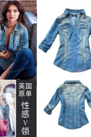 Bud silk denim shirt