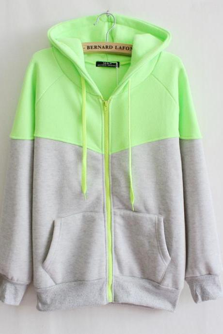 Fluorescent long-sleeved cardigan sweater AD813CG