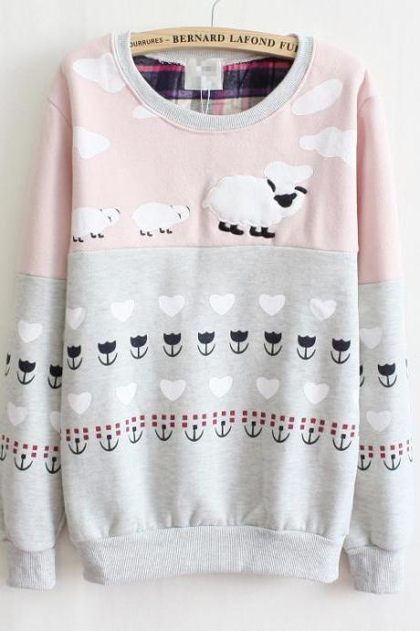 Sheep long-sleeved sweater AD813DE