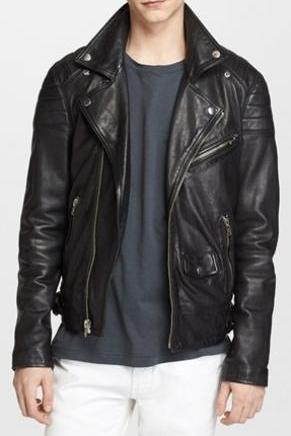 MEN LEATHER JACKET, BIKER LEATHER JACKET, BLACK COLOR LEATHER JACKET