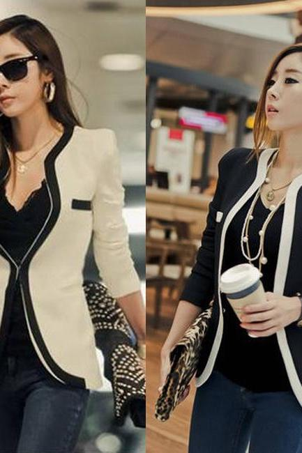OL V-neck Slim Suits Jacket Coat