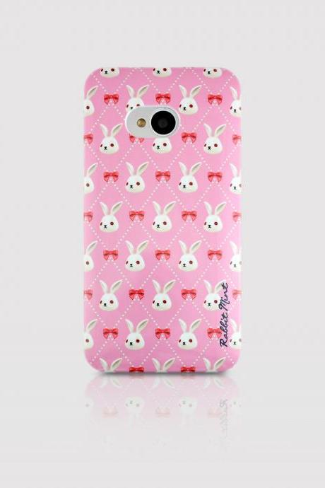 HTC One M7 Case - Merry Boo & Pink Ribbon (M0013-H1)