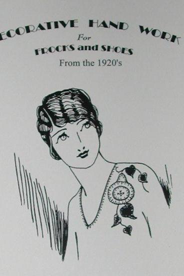 1920s Unique Handwork for Frocks and Shoes Downton Abbey style