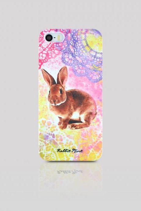 iPhone 5/5S Case - Bunny lace painting (P00069)