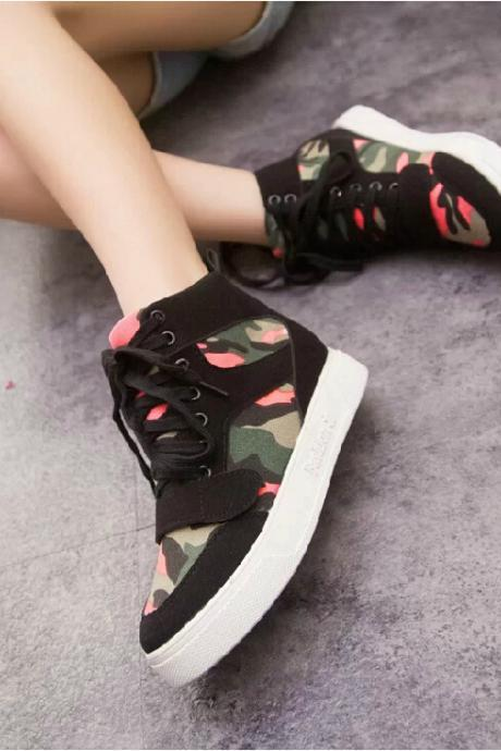 Floral camouflage canvas shoes GV823DA