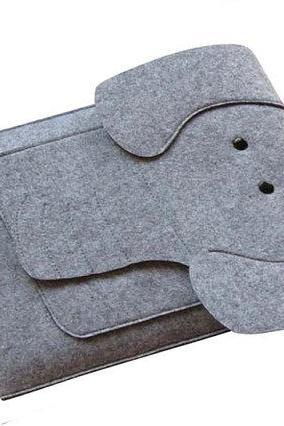 felt Macbook Air 13.3' sleeve Macbook 13.3' case Macbook Air holder Macbook case Macbook bag Laptop case Laptop sleeve Elephant