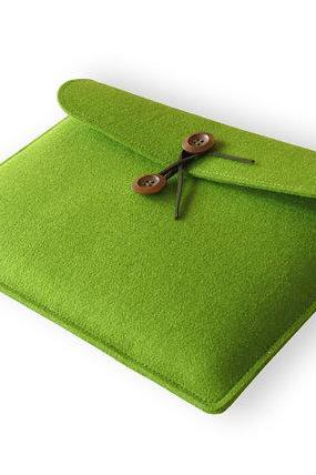 felt Macbook Air 13.3' sleeve Macbook 13' case Macbook Air cover Macbook case Macbook cover Laptop case Laptop sleeve green