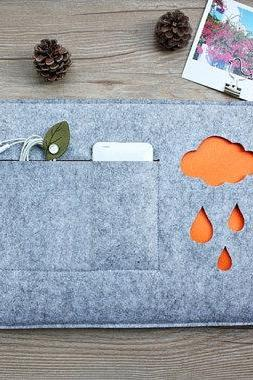 felt Macbook Air 13.3' sleeve Macbook 13' sleeve Macbook 13.3' case Air holder Macbook case Laptop case Laptop sleeve Raindrops