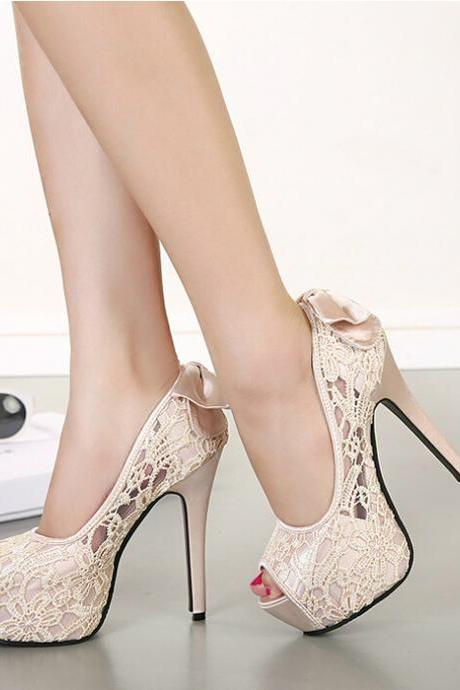Sexy lace high heels AZ901CE