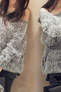 Fashion loose round neck knit sweater AX090504ax