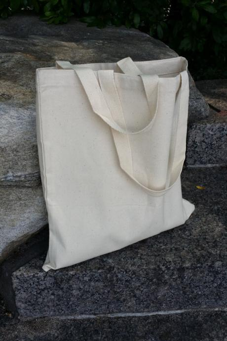 (1) 12oz canvas plain tote bag, bridal tote, canvas market tote, DIY tote, heavy duty tote, school bag