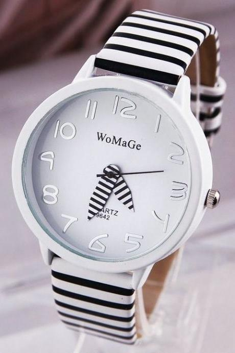 Woman zebra leather new watch