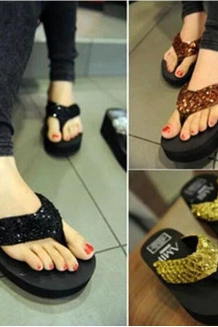 Sequins muffin slippers AZ910EI