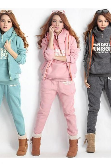 Thickening Sports Hoodies Suit