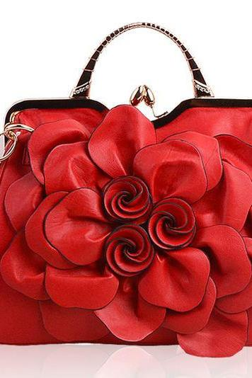 Elegant Red Leather Shoulder Bags for Elegant Women with Elegant Character