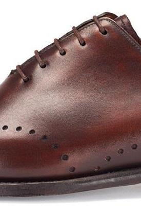 MENS HANDMADE SHOES, MEN DRESS SHOES, MEN BROWN COLOR SHOES,