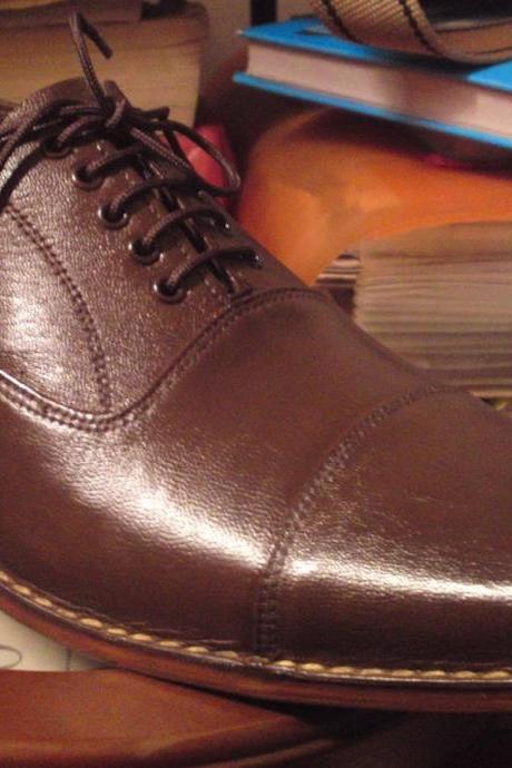 HANDMADE BROWN COLOR SHOES, MEN'S BROWN DRESS SHOES, REAL LEATHER SHOES