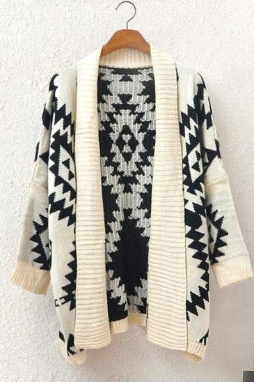 Knitted shawl cardigan sweater AX091201ax