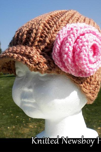 Quick & Easy Knitted Newsboy Hat for Girls Knitting Pattern
