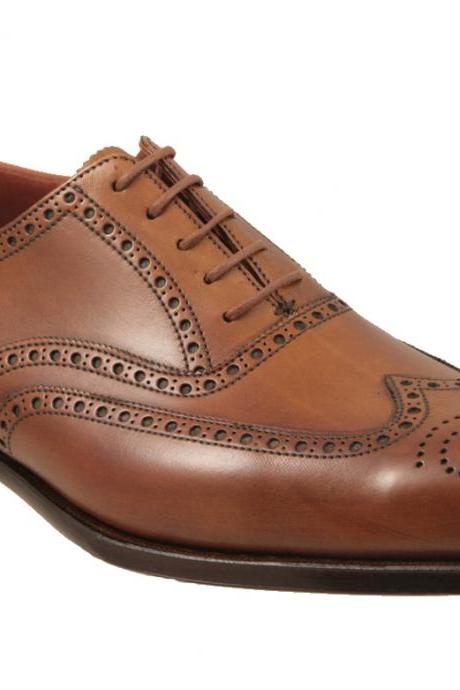 HANDMADE MENS DRESS BROGUE SHOES, MEN DRESS LEATHER SHOES, HANDMADE SHOES MENS