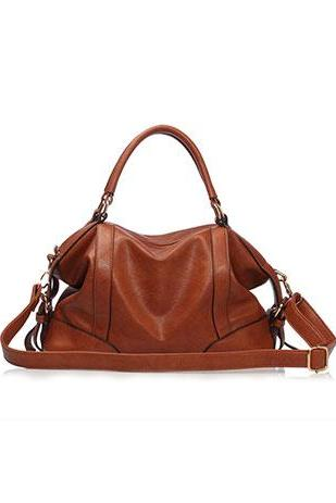 European Style Simple Pure Color Cattlehide Handbag Shoulder Bag [grzxy62000106]