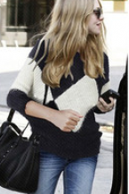 The new big lady's sweaters European mohair sweaters batwing coat loose coat