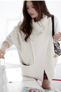 The new women's wear loose bat sleeve high quality pen Cloth coat