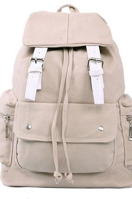 Casual travel school canvas girl backpack
