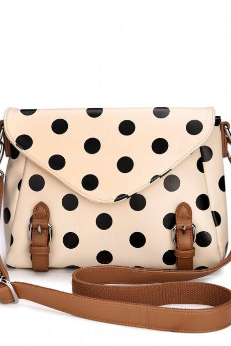 Cute And Fashion Polka Dot Messenger Bag Shoulder Bag