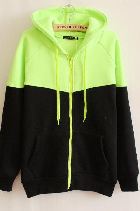 Hooded Fleece Zipper Pocket Sweater AW915DF