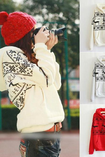 Fashion fawn hooded sweater #UE091702JK
