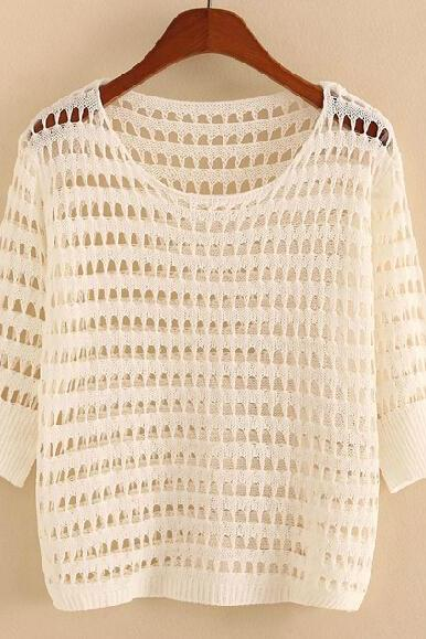 Hollow out mesh Long sleeve knit BB918C