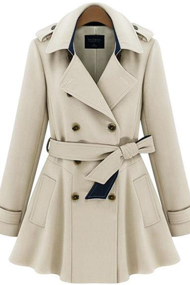 Slim Elegant double breasted coat