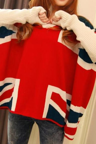 M flag knit cardigan sweater jacket AX091807ax