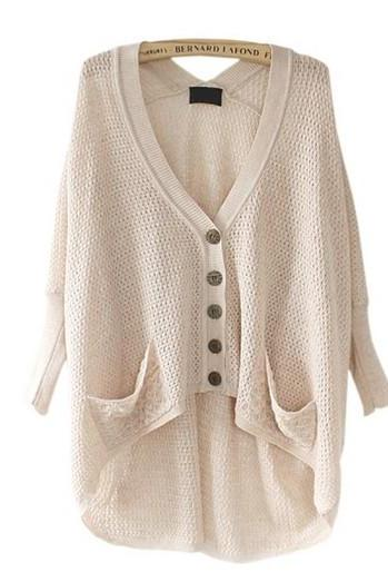 Solid Color High Low Cardigan
