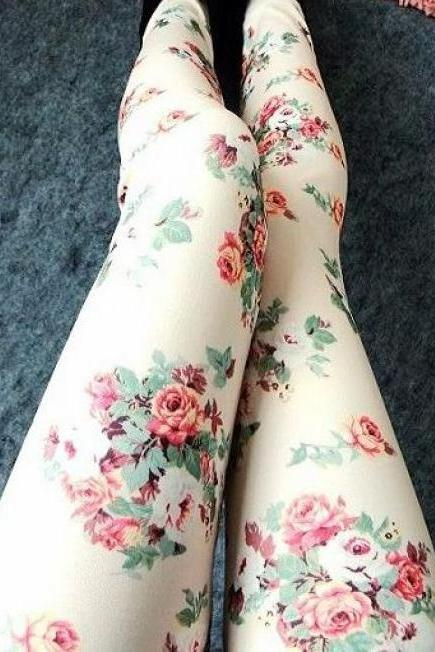 Sexy Rose Leggings Pantyhose