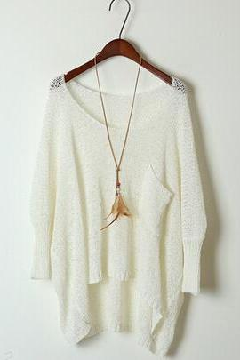 Loose knit sweater coat AX091812ax