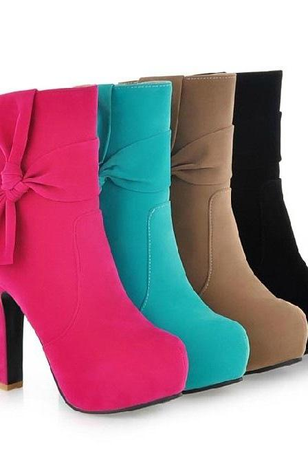 Snow Boots Warm Cotton Boots Heels