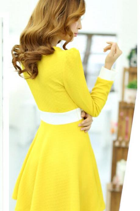 Long sleeve bowknot dress BB918DD