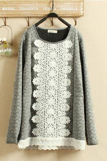 Lace long-sleeved T-shirt BB918DG