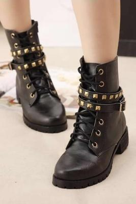 Black Chic Women Boots