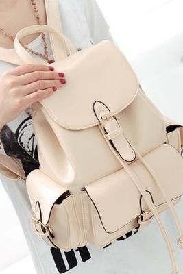 Sweet Light Beige Backpack Handbag