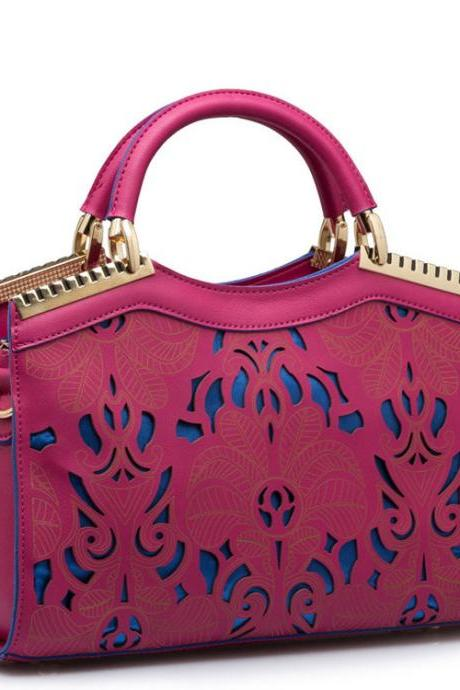 Elegant Hollow Out Fluorescent Handbag&Shoulder Bag