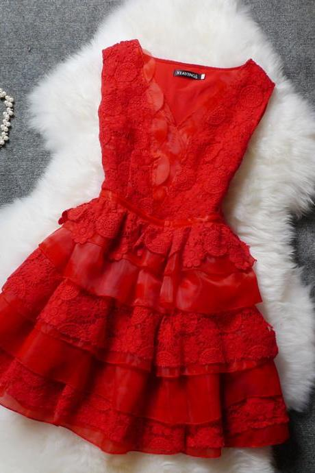 Fashion Lace Embroidered Organza Dress