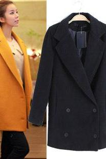 Winter Wool Jacket Pea Coat Trench Coat Outerwear WC177