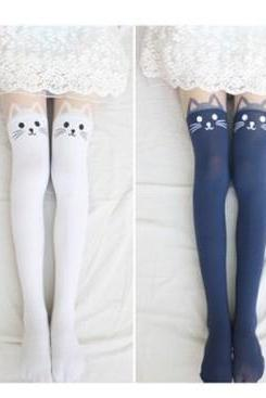 Cut Uk Tights For Girlfriend Gift New Fall Cat Tattoo Tights Fashion Tights