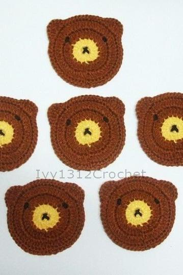 Teddy Bear Coasters (Set of 6) - Handmade Amigurumi Coasters