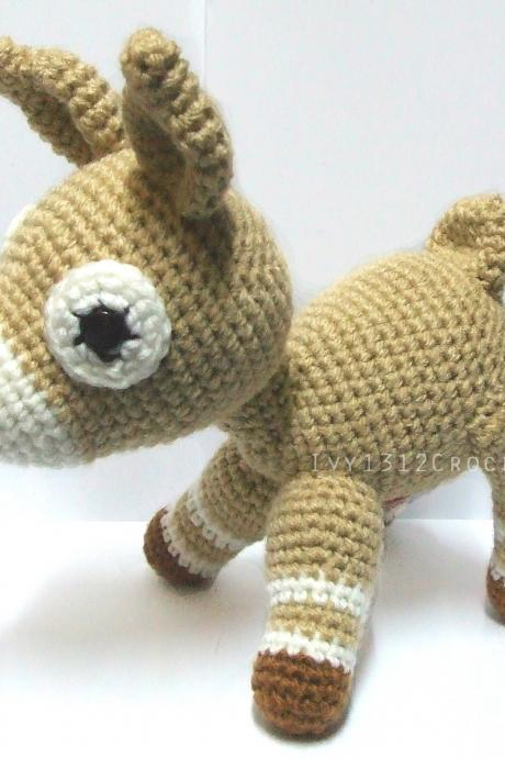 Lovely Deer - Handmade Amigurumi crochet rabbit doll Home decor birthday Baby shower gift toy