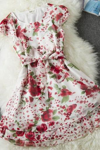 Sleeveless Floral Dress AX092202ax